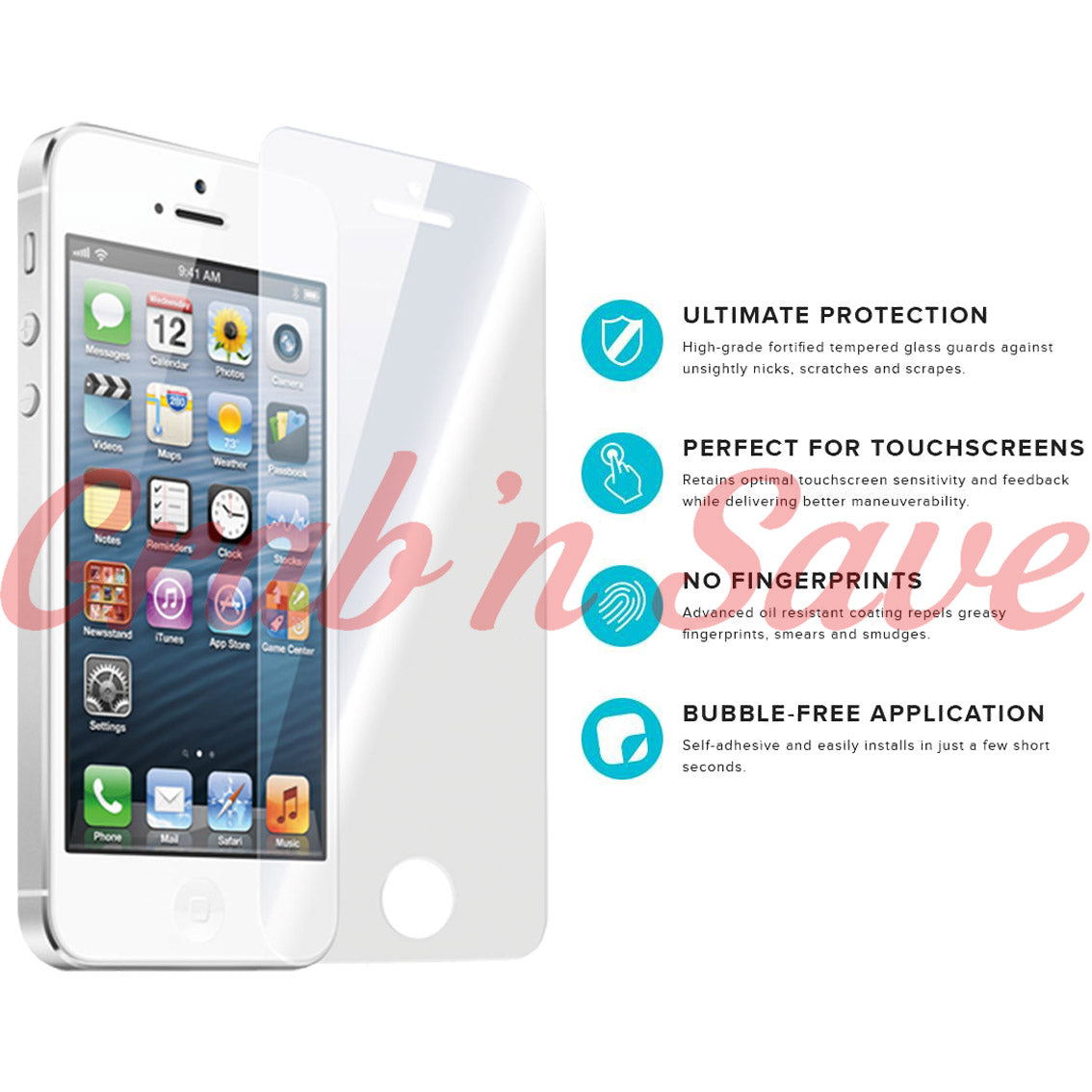 iPhone 5 Screen Protector, Glass Screen Protector, Tempered Glass Screen Protector