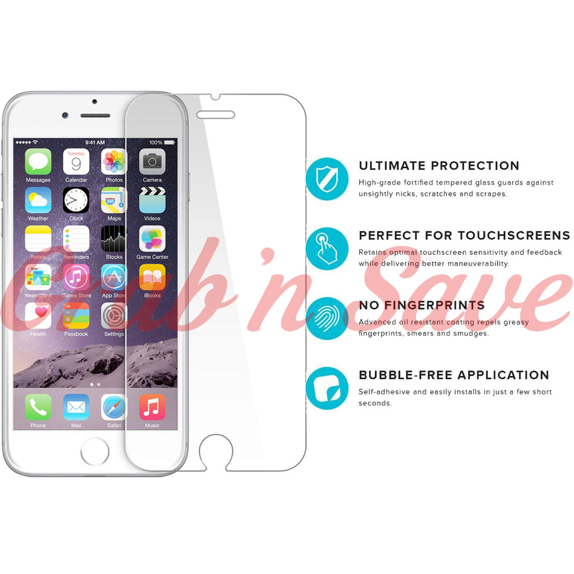 iPhone 6S Plus Screen Protector, Glass Screen Protector, Tempered Glass Screen Protector