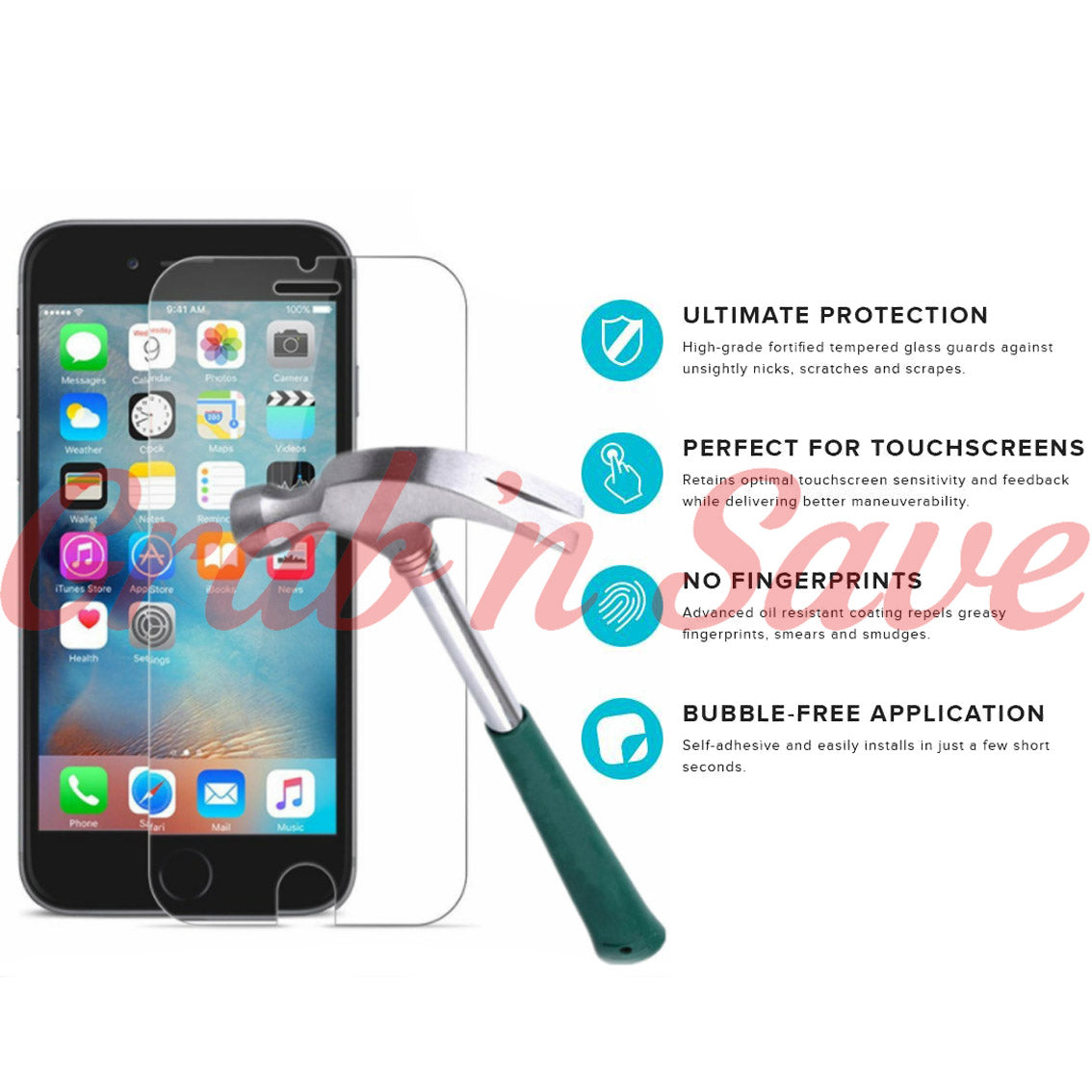 iPhone 7 Plus Screen Protector, Glass Screen Protector, Tempered Glass Screen Protector