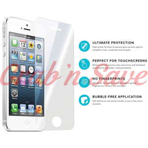 iPhone 5S Screen Protector, Glass Screen Protector, Tempered Glass Screen Protector