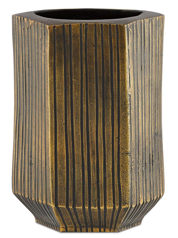 Veteris Brass Large Vase