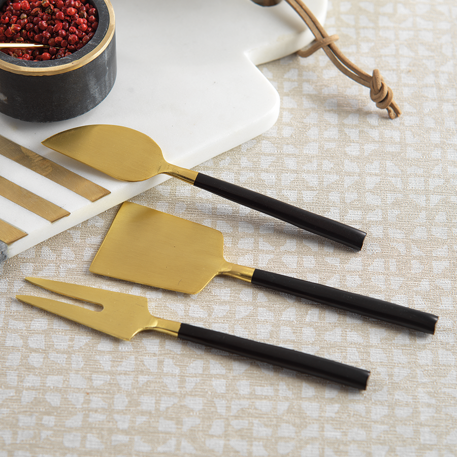 Cheese Set - Black / Matte Gold