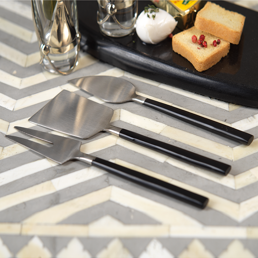 Cheese Set - Black / Matte Silver