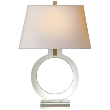 Ring Form Table Lamp with Natural Paper Shade