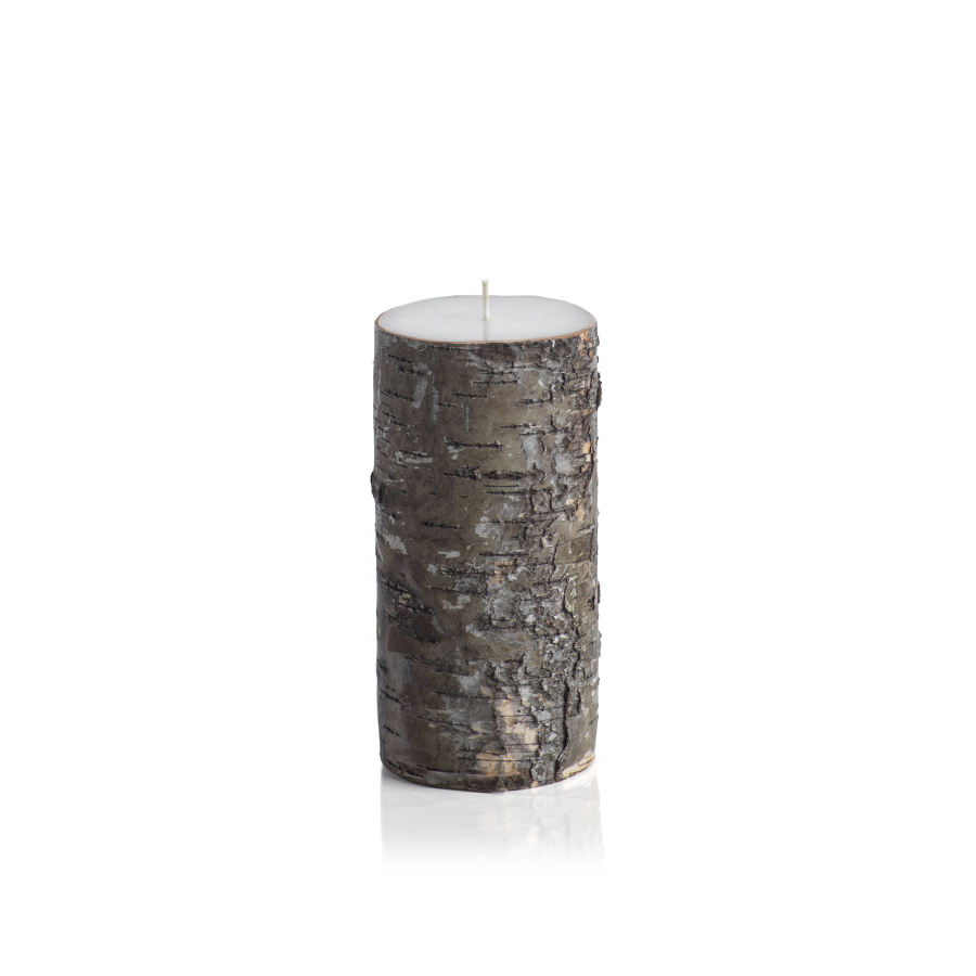 Birchwood Unscented Pillar Candle