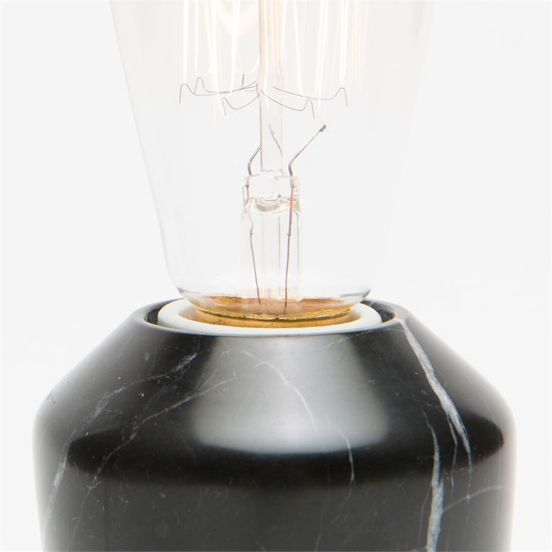 Grazia Black Marble Lamp