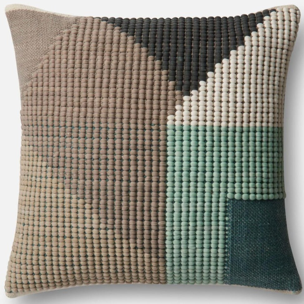 In & Out Teal/Multi Throw Pillow