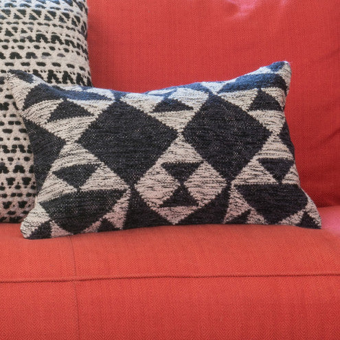 Charcoal/Ivory Geometric Pillow