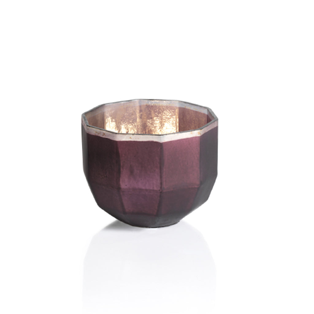 Faceted Mercury Candle Holder