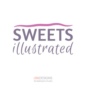 Sweets Illustrated logo design by Lena Designs