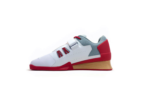 Velaasa Strake: Olympic Weightlifting Shoes in Red - Europe