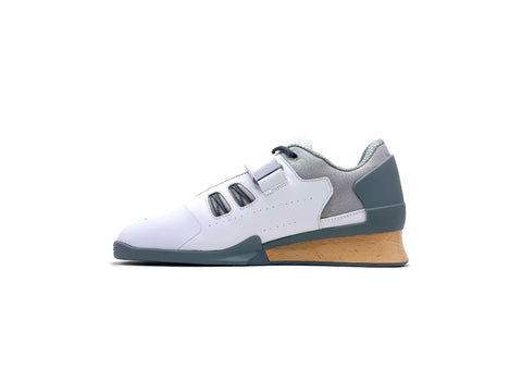Velaasa Strake: Olympic Weightlifting Shoe in Winter White
