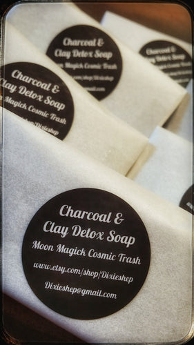 Facial Detox Soap (Activated Charcoal, Bentonite Clay, Tea Tree Oil, Black Soap, Shea Butter)