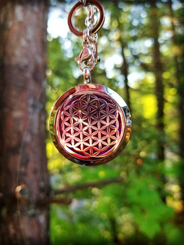 Sacred Geometry Flower of Life Essential Oil Aromatheraphy Locket Amulet