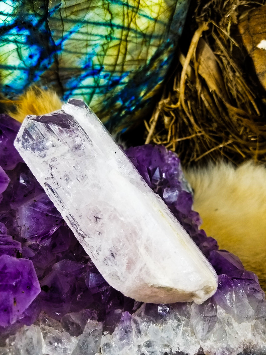 Large whisper pink Danburite crystal || Rainbows || Self love