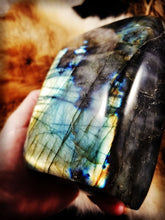 Labradorite Tablet || Stunningly Vibrant Free Standing Hand Polished  || Madagascar || XXL #8