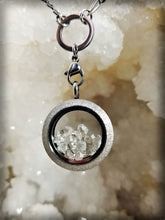 Gorgeous Herkimer Diamond Crystal Glass Locket || Double Sided