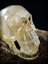 "Stunning Rainbow Smokey Quartz Skull || Hand Polished || Synced with ""Max Crystal Skull"" energies"