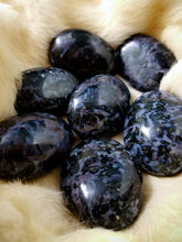 Indigo Gabbro Stone || Super Grounding || Madagascar - Medium Palm