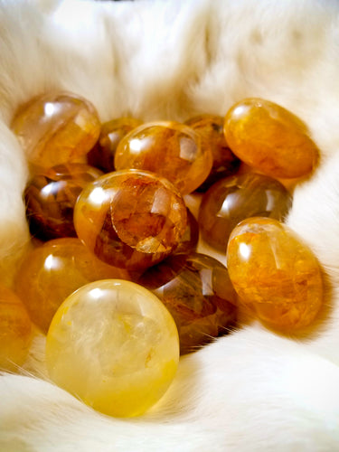 Golden Healer Girasol Quartz || Multiple Sizes || Multi Layered Veil - Medium Tumble