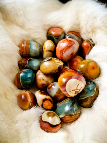 Polychrome Jasper || Stunning Colors || Fire Energy || Seekers || Transformation - Tumble