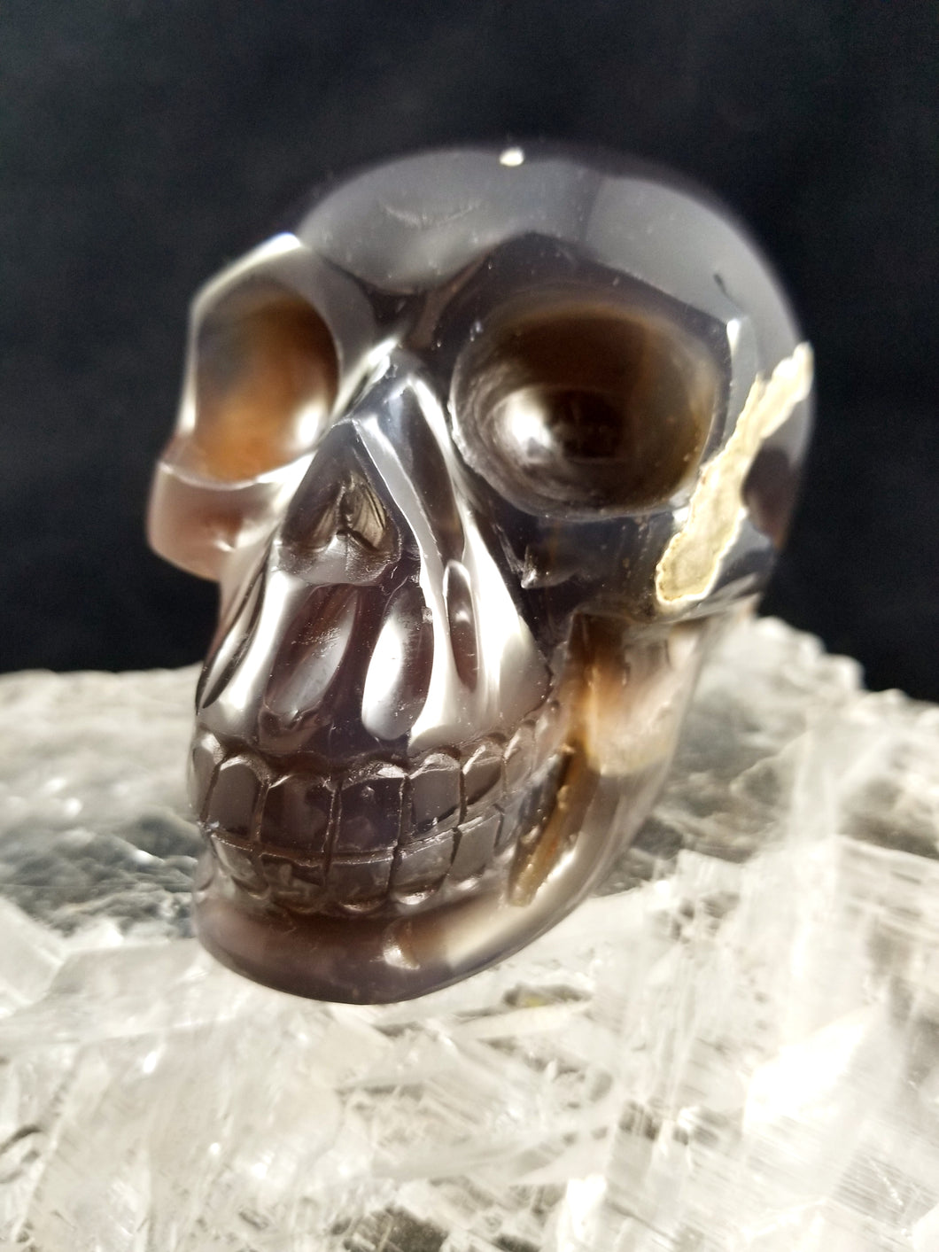 "Stunning Agate Druzy Skull || Synced w/""Max the Crystal Skull"" energies  