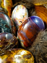 Violet Flame Agate Palm Stones || Hand Polished || Natural || Madagascar