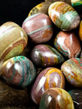 Ribbon Polychrome Jasper Palm Stones || Stunning Colors || Madagascar
