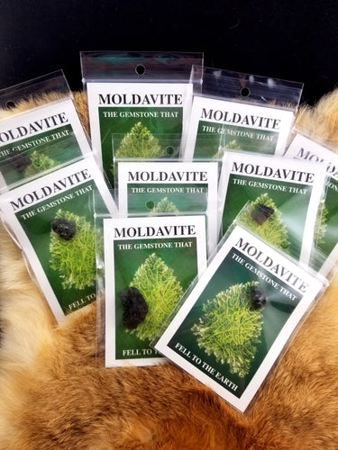 Moldavite specimen packs || Insert includes story of Moldavite || Alien Debris