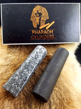 One set Pharaoh Cylinders // Shungite/Steatite