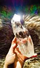 Majestic Water Clear Rainbow Quartz Point || XL || Self-Standing