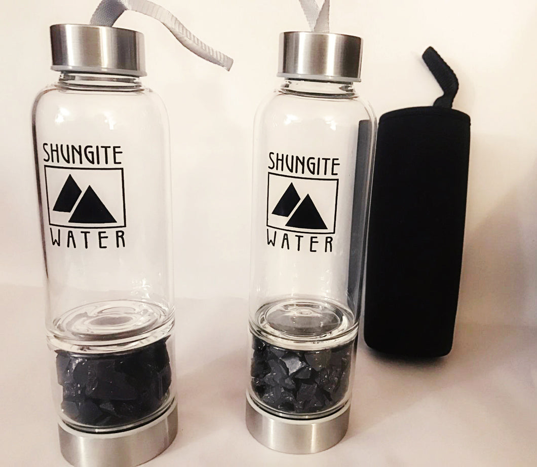 Shungite Water Bottle || EMF Protection || Healing || Ancient Stone