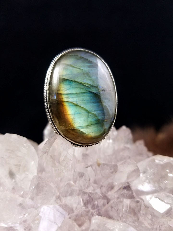 Stunning Labradorite Statement Rings (Set One)