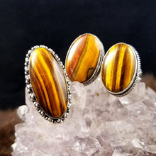 Grounding Tigers Eye Rings || Set One || Protective || Strength - 7.75