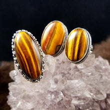 Grounding Tigers Eye Rings || Set One || Protective || Strength - 8.5