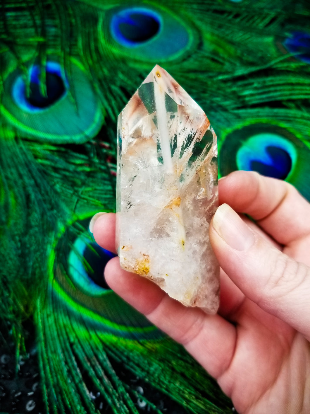 Amphibole Quartz || Inclusion #6A  || Brazil || Higher Realms Meditation