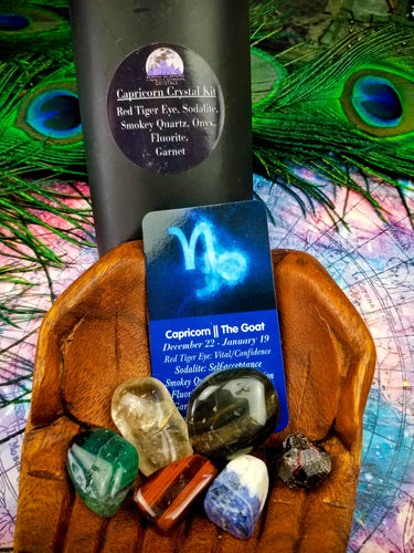 Capricorn Zodiac Crystal Kit || Astrology || The Goat