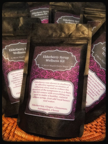 Elderberry Syrup Wellness Kit (A Moon Magick Herbs Blend)