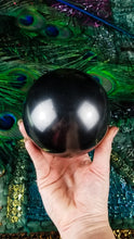 100mm Shungite Energy Sphere with base  || EMF Protection || Healing || Ancient Stone