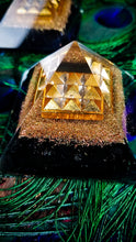 Shungite orgonite Lemurian plate pyramids (medium) || EMF Protection ||