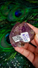 Double Terminated Smokey Elestial Amethyst || Madagascar || Grape Purple Inclusions