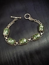 Seraphinite and Sterling Silver Bracelet || Angel Stone