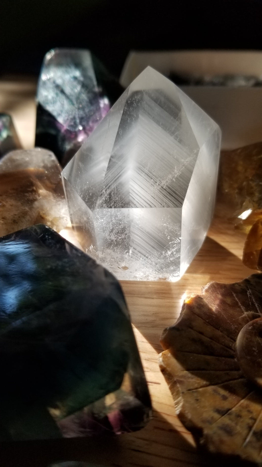 Intense Phantom Quartz with Chlorite phantoms  ~ Powerful Healer ~ Past Life Recall