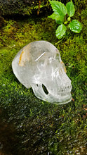 "Sweet Crystal Quartz Skull with Iron Inclusion || Hand Polished || Synced with ""Max Crystal Skull"" energies"