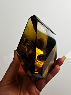 Molasses colored Smokey Citrine || Phantom Rainbows || No. 6A || Brazil