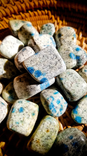 K2 Tumbled Stone || Azurite and Granite ||