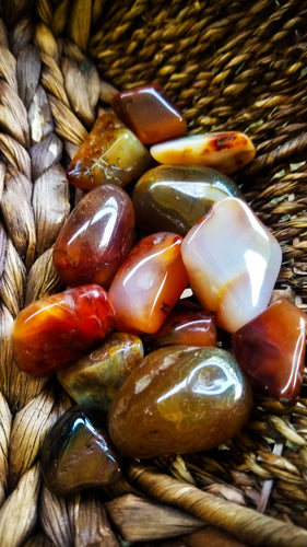 Carnelian Crystal Tumble || Sunset Colored || Courage || Creativity