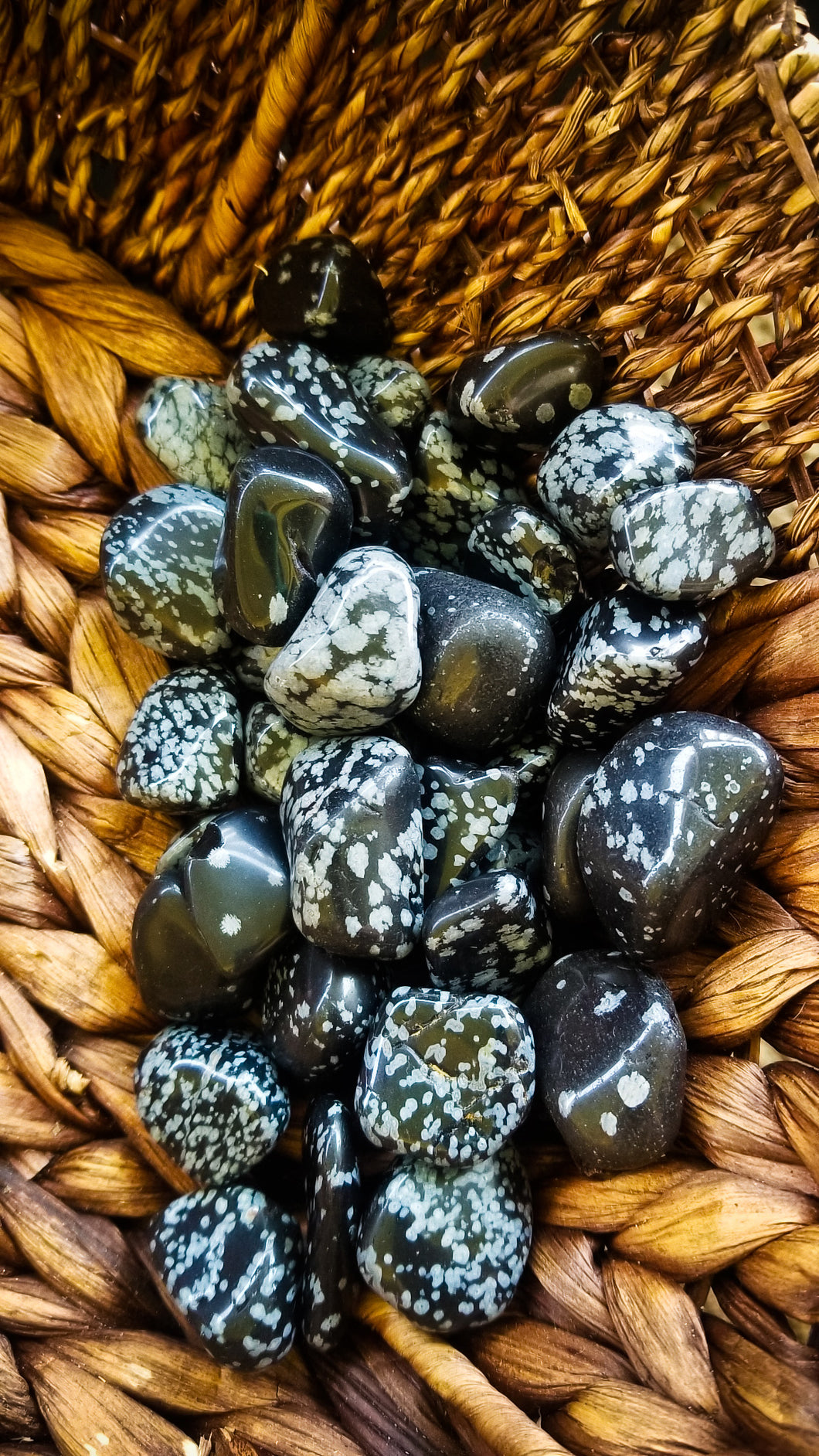 Snowflake Obsidian Crystal Tumble || Grounding to Heart of the Earth || Protection