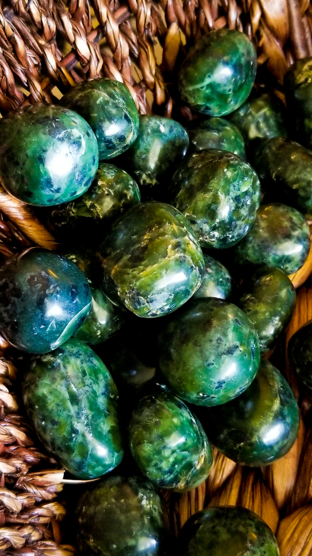 Nephrite Jade Crystal Tumble || India