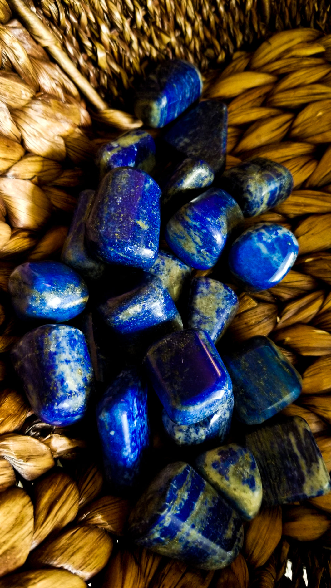 Lapis Lazuli Crystal Tumble || Pyrite Inclusions